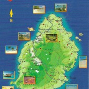 Mauritius is located just east of Madagascar