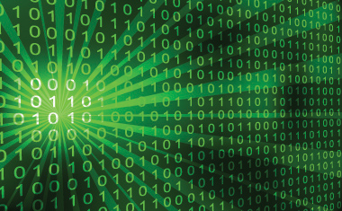 Abstract binary code 3D vector background. » Banking Technology