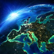 land area in Europe the night