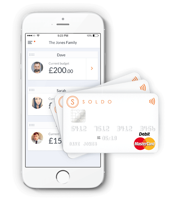 Soldo – the family spending account. Image source: Soldo