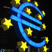 European Central Bank sign in Germany