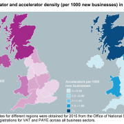Map of accelerators and incubators UK