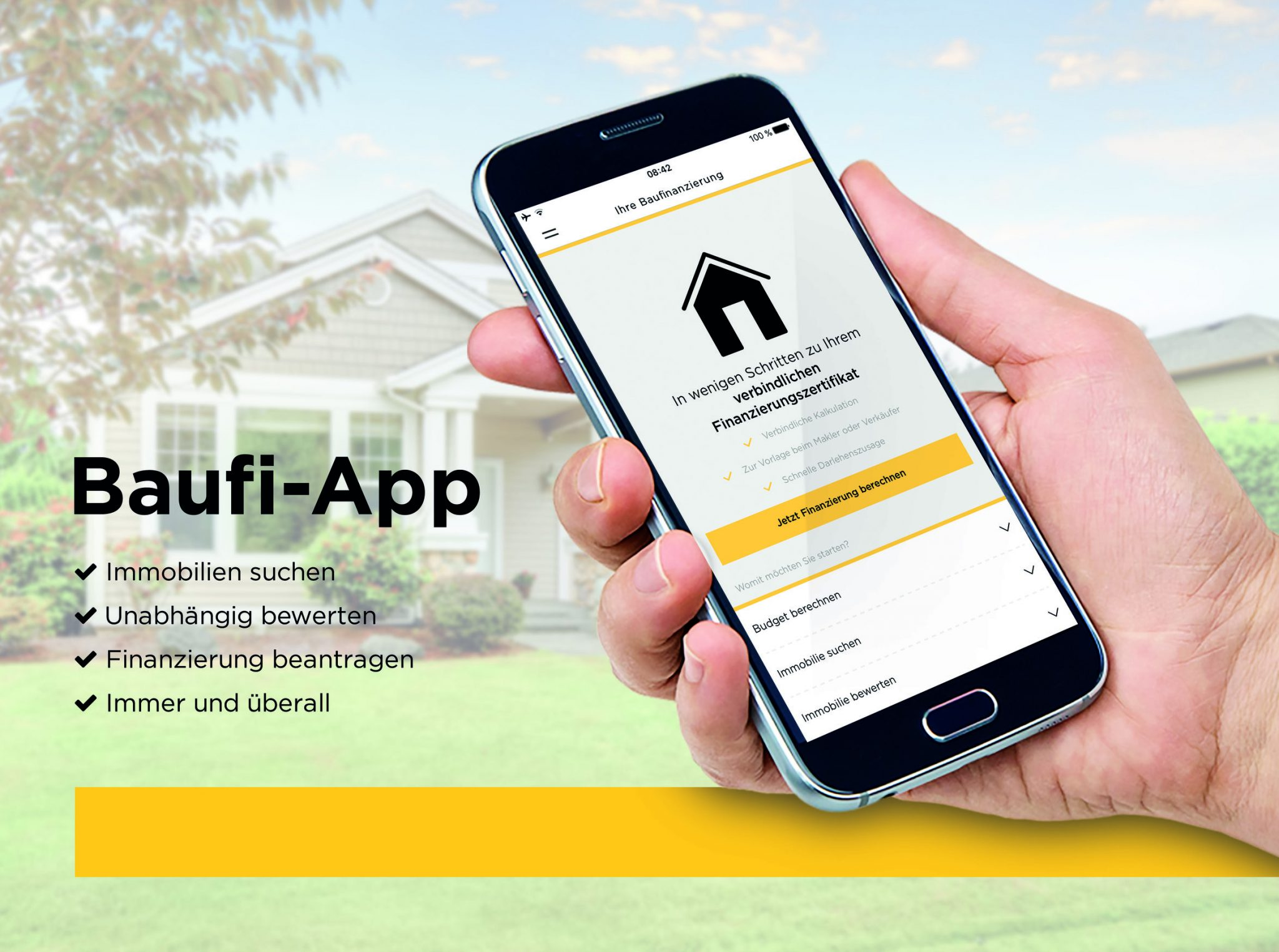 The app is free and users can carry out house and apartment purchases on their smartphones