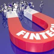 Fintech Magnet Attracting Customers Finance Technology 3d Illust