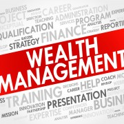 Wealth Management word cloud collage, business concept background