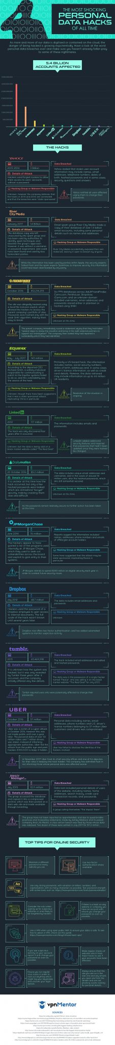 Infographic data hacks  - Infographic data hacks - Infographic: the most shocking personal data hacks of all time