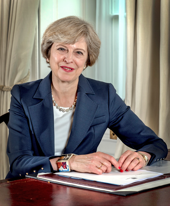 Theresa May, UK Prime Minister  - Theresa May - UK government plots cryptocurrency regulations