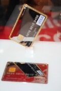 It's Dubai: who wouldn't want a gold-plated metal credit card from The High Concept Card Lab?