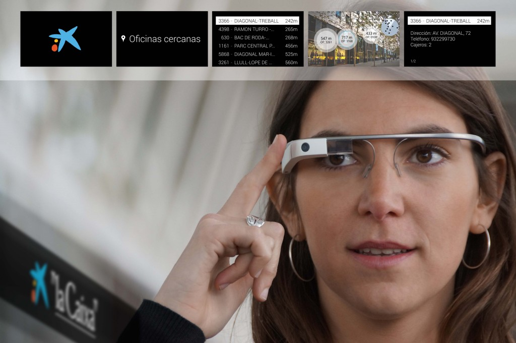 CaixaBank has developed a set of tools for Google Glass and the smartwatch