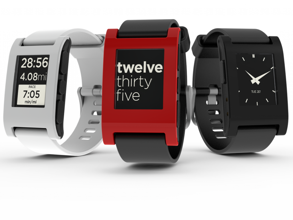 The Pebble smartwatch was launched in January 2013