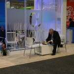 Percy Pot Plant has finally made it to his first Sibos meeting