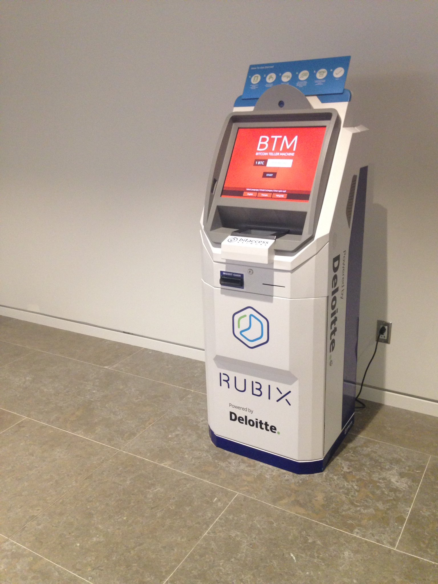 Deloitte launches its first bitcoin atm fintech futures the bitcoin transaction machine ccuart Choice Image