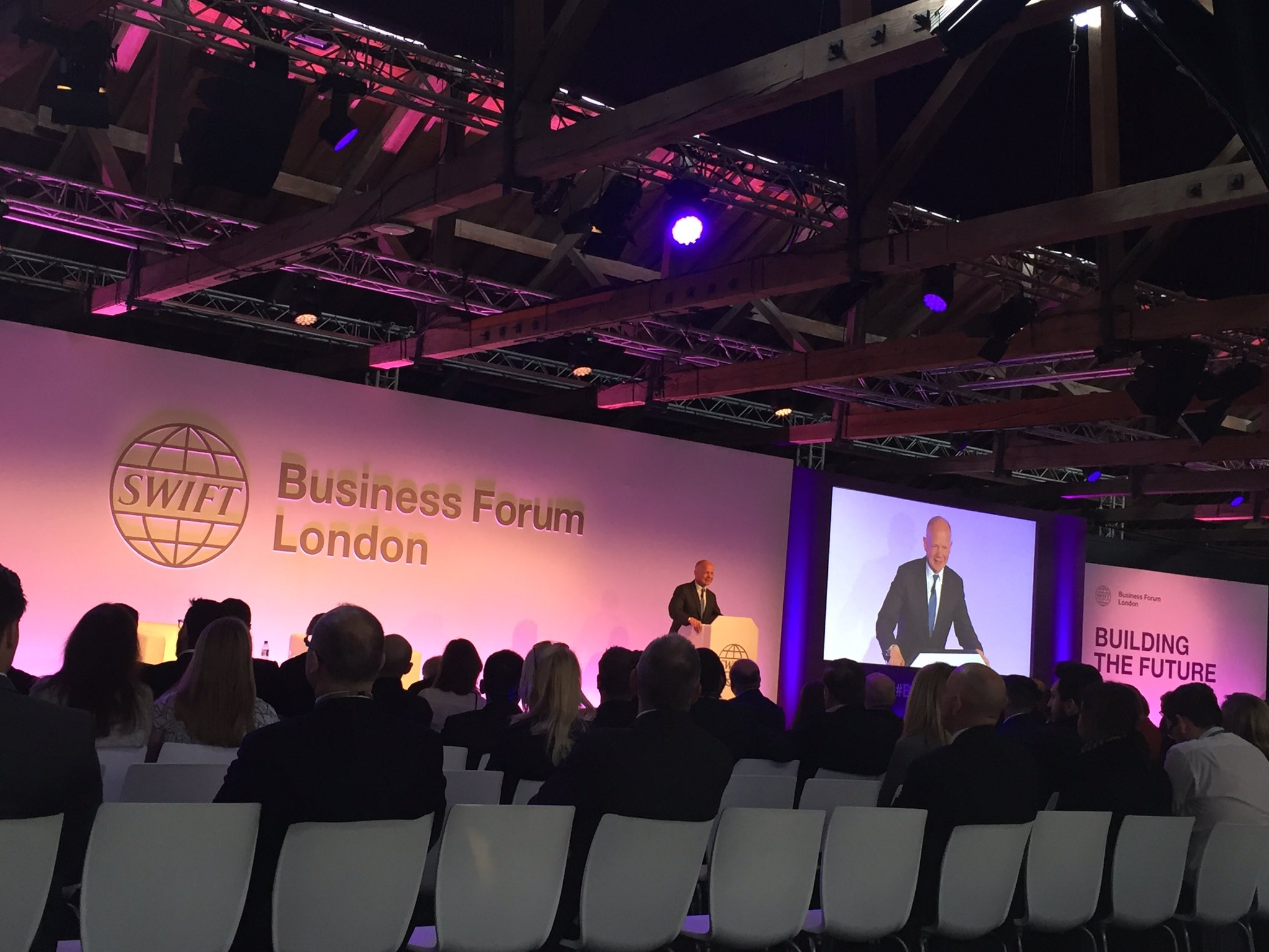 William Hague at Swift Business Forum London 2017 (Image source: Swift)