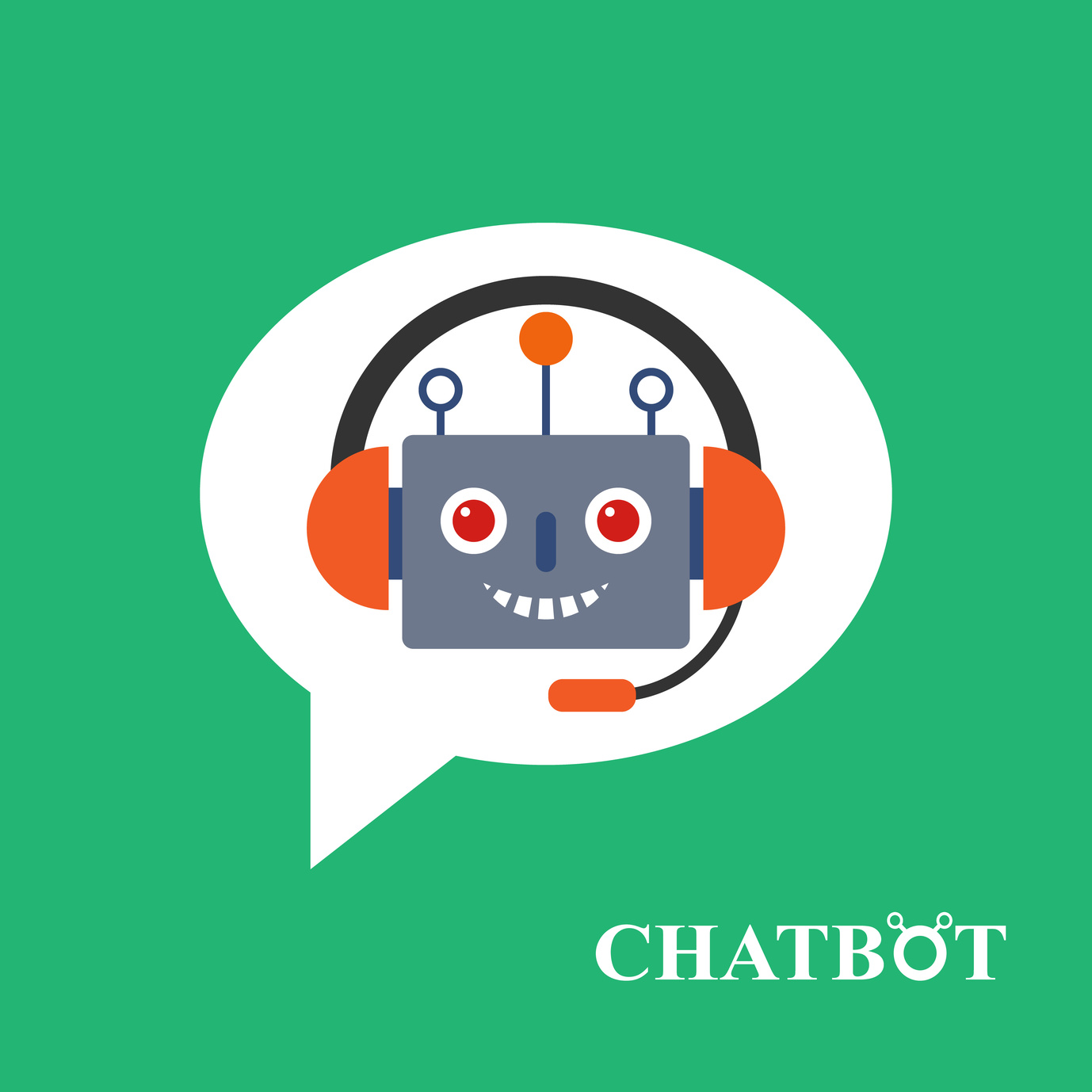 Chatbot icon concept