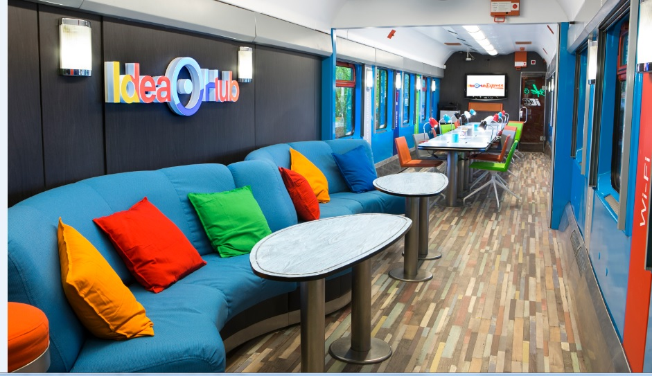 All aboard for Idea Bank's branch express