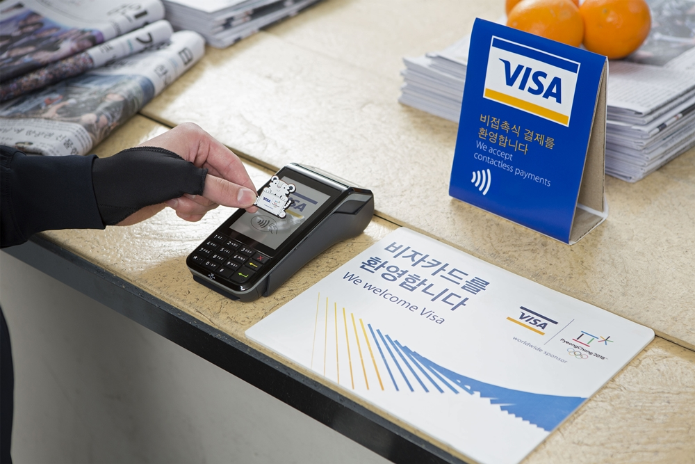Visa has unveiled three wearable payment devices for the Winter Olympics