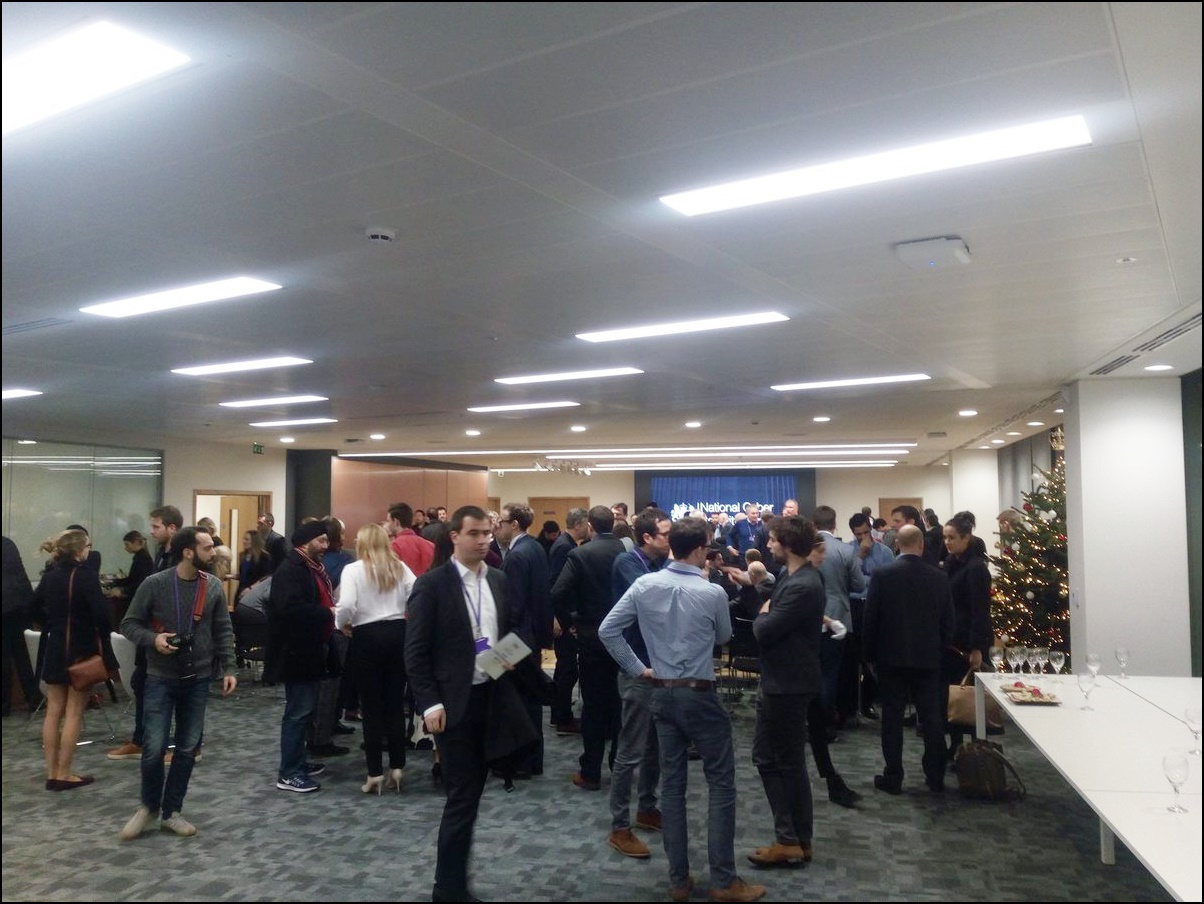 Mingling with the start-ups at NCSC HQ in Victoria, London