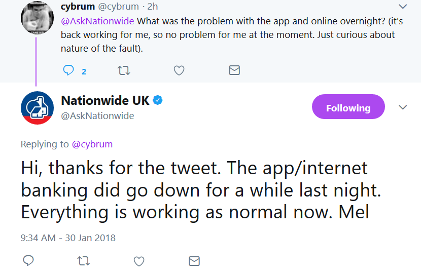 Nationwide's internet banking takes the night off – FinTech