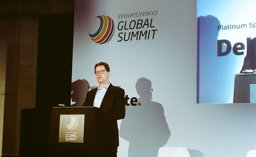 Nick Clegg, former deputy prime minister of the UK, at the Innovate Finance Global Summit in London