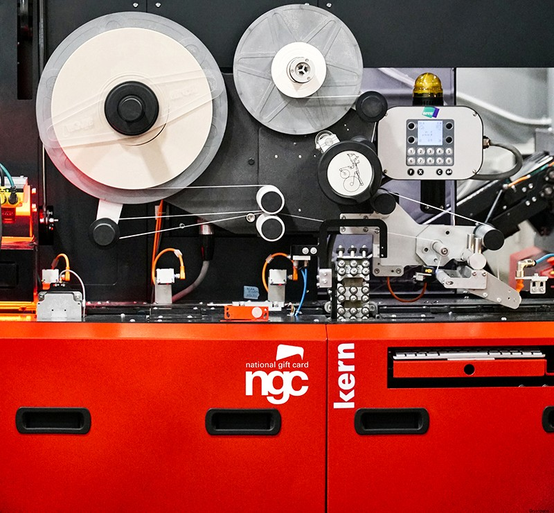 A Kern gift card fulfilment machine used by NGC (Photo credit: @ryanpisha)