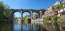 The viaduct at Knaresborough serves as a conduit to Harrogate