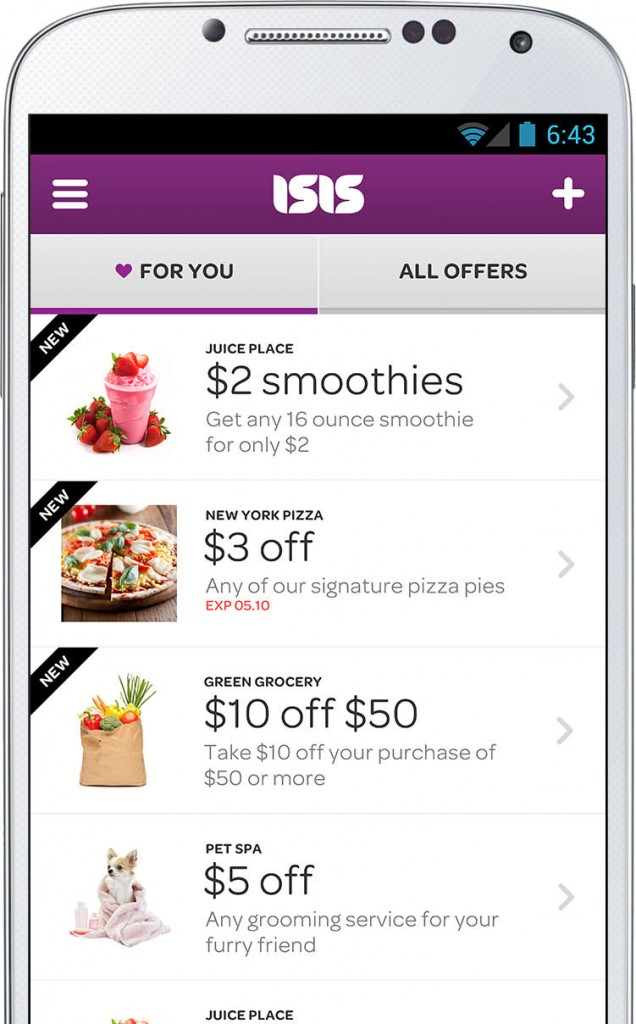 Isis is a free mobile wallet that plans to conquer the USA offering users retailer discounts